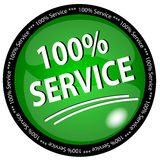 100% Service Button Stock Photo