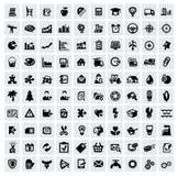 100 sieci ikon ilustracja wektor
