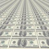 100 tło dolarów Obrazy Stock