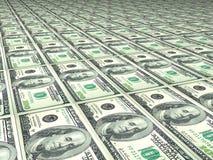 100 telhas do dólar Imagem de Stock