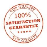 100% tevredenheids rubberzegel Royalty-vrije Stock Foto's