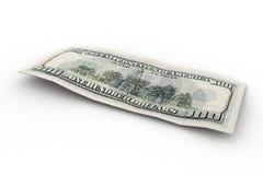 100 tillbaka dollar oss Fotografering för Bildbyråer
