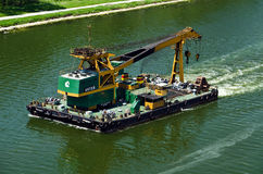 100 tons floating crane  Royalty Free Stock Photography