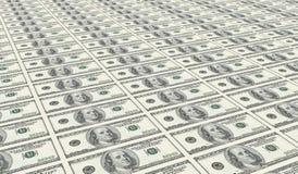 доллары 100 одного листа uncut Стоковое Фото