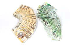 100 und 200 polnisches Zlotys Lizenzfreies Stockbild