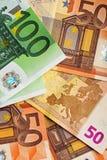 100 und 50 Euro Lizenzfreie Stockfotografie