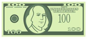 100 US-Dollar-Banknote (Vektor) stock abbildung