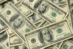 100 USA dollar bills Royalty Free Stock Image