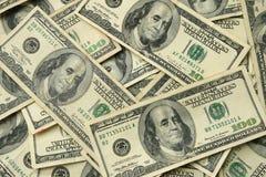 100 USA dollar bills. Background of one hundred dollar United States bills Royalty Free Stock Image