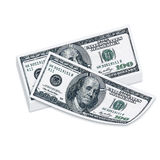 100 usd bankbiljetten Stock Fotografie