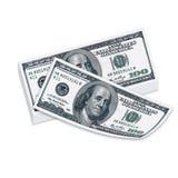 100 usd de notas de banco Fotografia de Stock