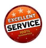 100% utmärkt service Arkivbild
