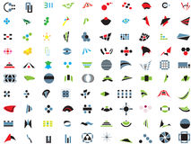 100 vector logos and elements Royalty Free Stock Photo