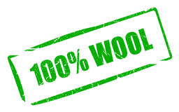 100 wool. Stamp isolated on white Royalty Free Stock Photography