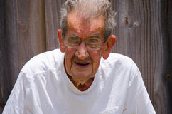 100 Year Very Old Centenarian Senior Man Royalty Free Stock Image