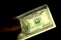 100 znak wodny dolarów Zdjęcie Royalty Free