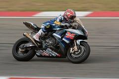 1000年k9 r赛跑superbike铃木的gsx 图库摄影