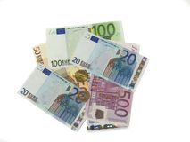1000欧元 库存照片