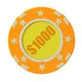 1000 δολάρια τσιπ χαρτοπαικ&ta Στοκ Εικόνες