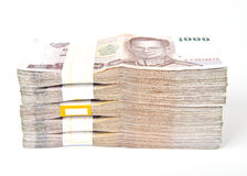 1000 Bahtbanknoten getrennt. Stockfoto