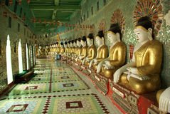 1000 Buddhas. On the Sagaing Hill, Mandalay, Myanmar Stock Images