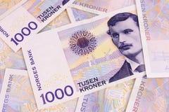 1000 corone scandinave Immagini Stock