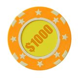 1000 dollars de puce de casino Photo stock