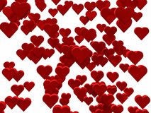1000 hearts. 1000 red hearts background for Valentine Royalty Free Illustration