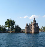 1000 Islands, Canada. Castle on St. Lawrence river, Canada Stock Photos