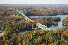 Thousand Islands Bridge, New York, USA Stock Images