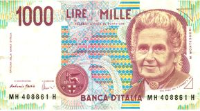 1000 lirów Zdjęcie Stock