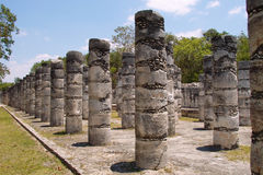 1000 pillars at Chichen Itza Royalty Free Stock Photo