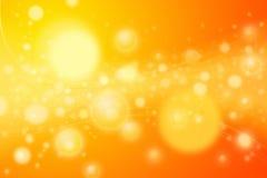 1000 stelle - sfere e curve arancioni calde di energia Immagine Stock Libera da Diritti