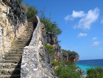 1000 Steps Bonaire. Looking upwards 1000 Steps Bonaire stock images