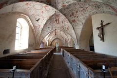 1000-year-old church. S:t Marys church in Risinge, Ostergotland, Sweden was built in the 12th century Stock Images