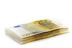 10000 euro op een hoop Stock Foto's