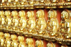 10000 Golden Buddha Royalty Free Stock Photos
