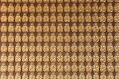10000 Golden Buddha in Chinese temple Royalty Free Stock Photo