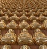 10000 goldener Buddha im chinesischen Tempel Lizenzfreie Stockfotografie
