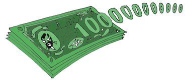 100000000000 dólares libre illustration