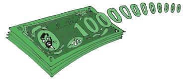 100000000000 dollari Fotografia Stock Libera da Diritti