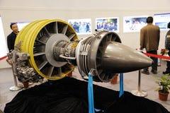1000a中国cj引擎扇涡轮 库存照片