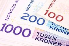 1000b νόμισμα νορβηγικά στοκ εικόνες