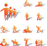 100A. Pictographs of people. Set icons - 100A. Pictographs of people. Simple pictographs for your signs and design Stock Photo