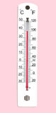 100f温度计 免版税库存图片