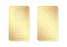 100g minted gold bar. Gold bar for investment use Royalty Free Stock Images