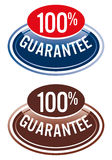 100guarantee.eps. Label; 100% guarantee on a white background Royalty Free Stock Images