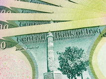 100k dinars1 Ιρακινός Στοκ Φωτογραφία