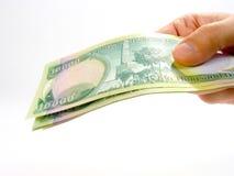 100k dinars4伊拉克人 库存照片