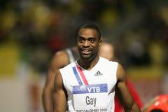 100m 2009年竞技最终快乐精神tyson世界 免版税图库摄影